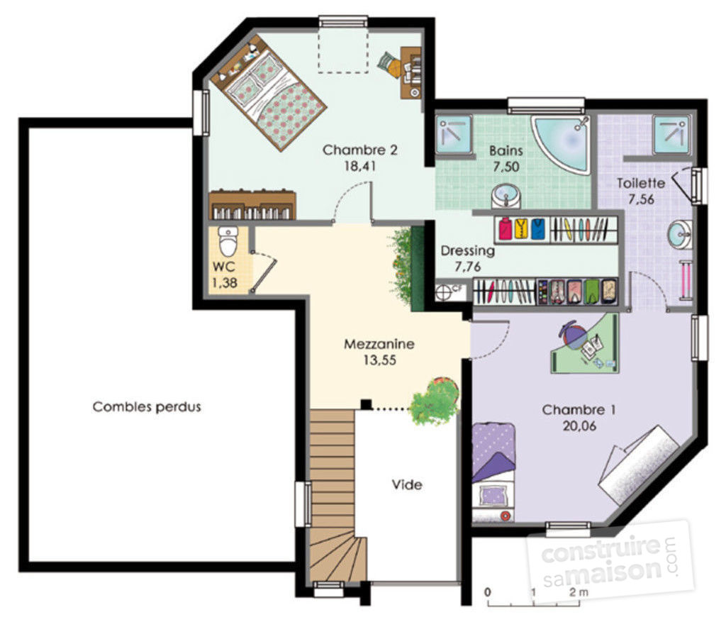 Plan maison avec tour maison 2 1st level inland cottage - Plan maison avec tour ...