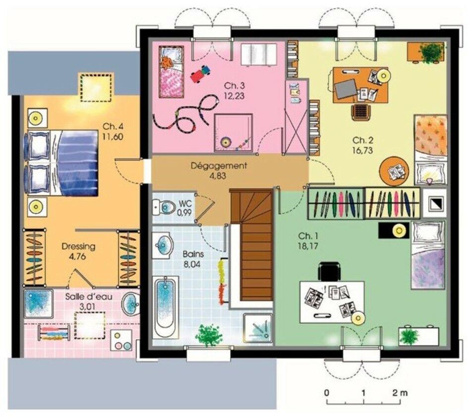 Maison de ville d tail du plan de maison de ville for Plans de maison et de maison