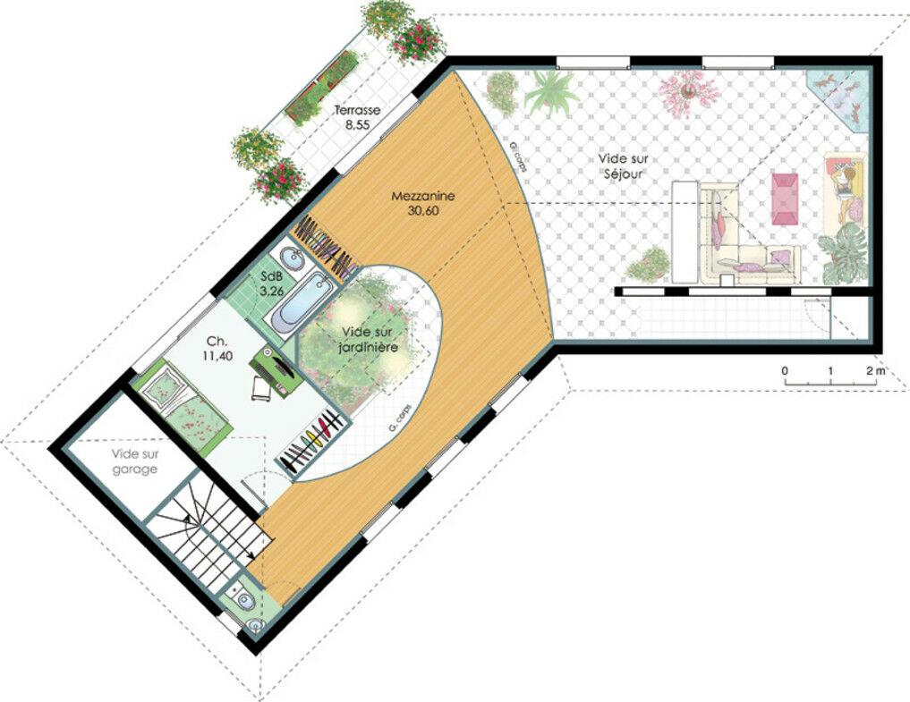 Plan Villa Terrain En Pente