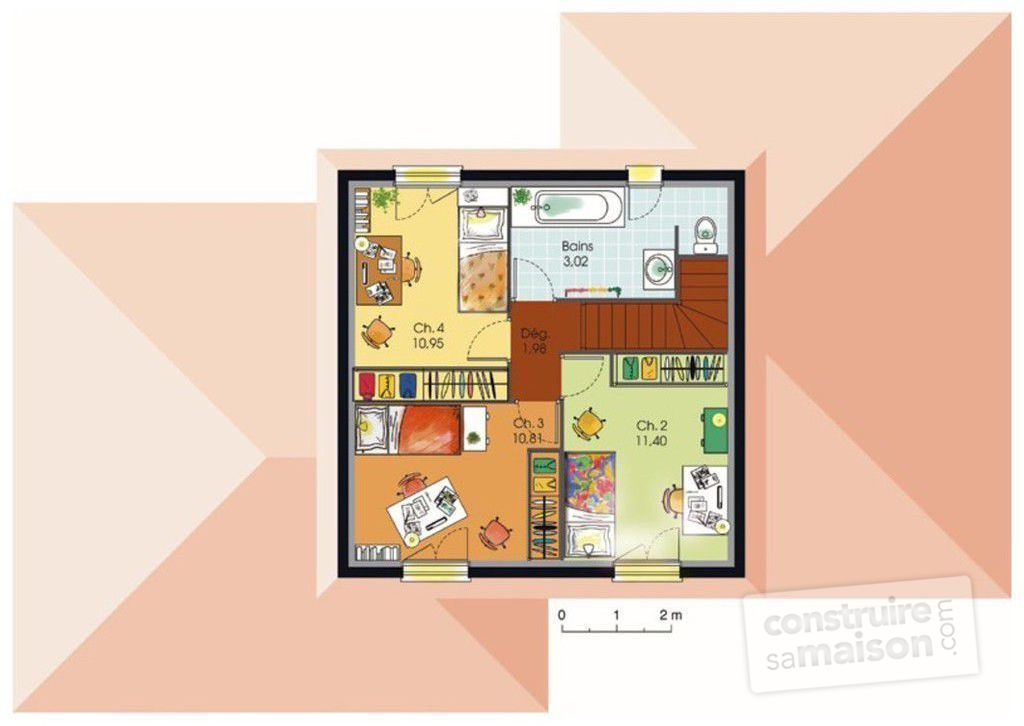 Maison Avec Tour Carree Awesome With Plan Maison Avec Tour Carre - Plan maison avec tour carree