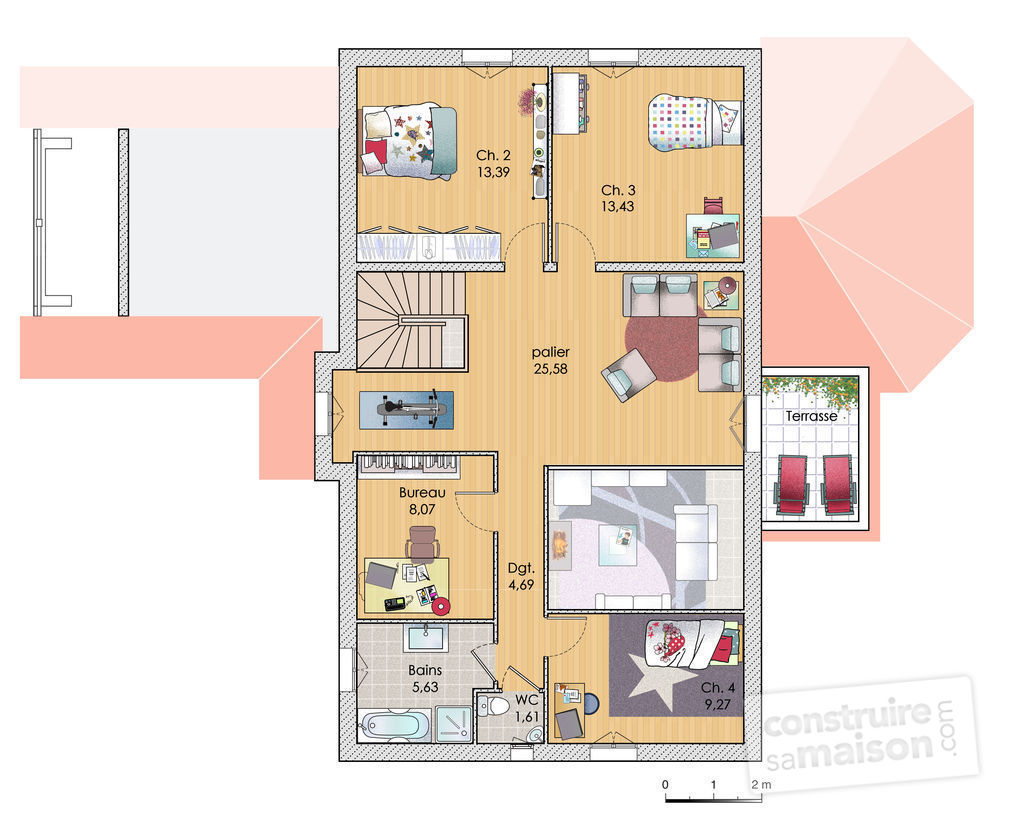 Dessin plan de maison best plan maison architecte d with for Dessiner son plan de cuisine