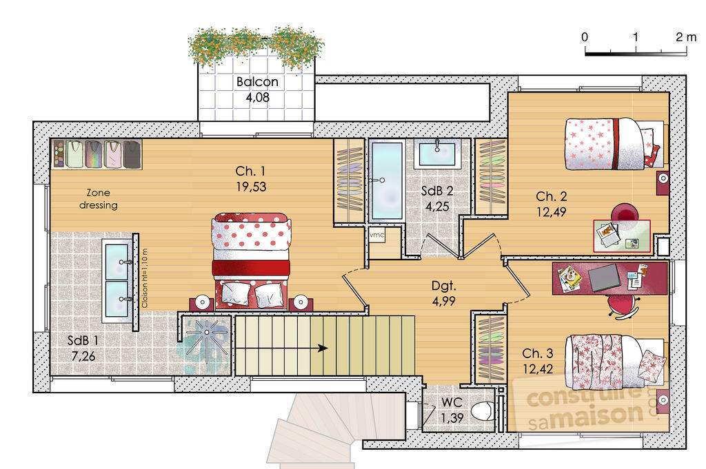 Maison design d tail du plan de maison design faire for Plan de villa style americain