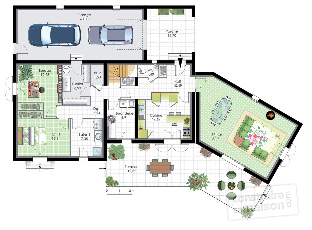 Plan de maison bbc for Plan maison contemporaine bbc
