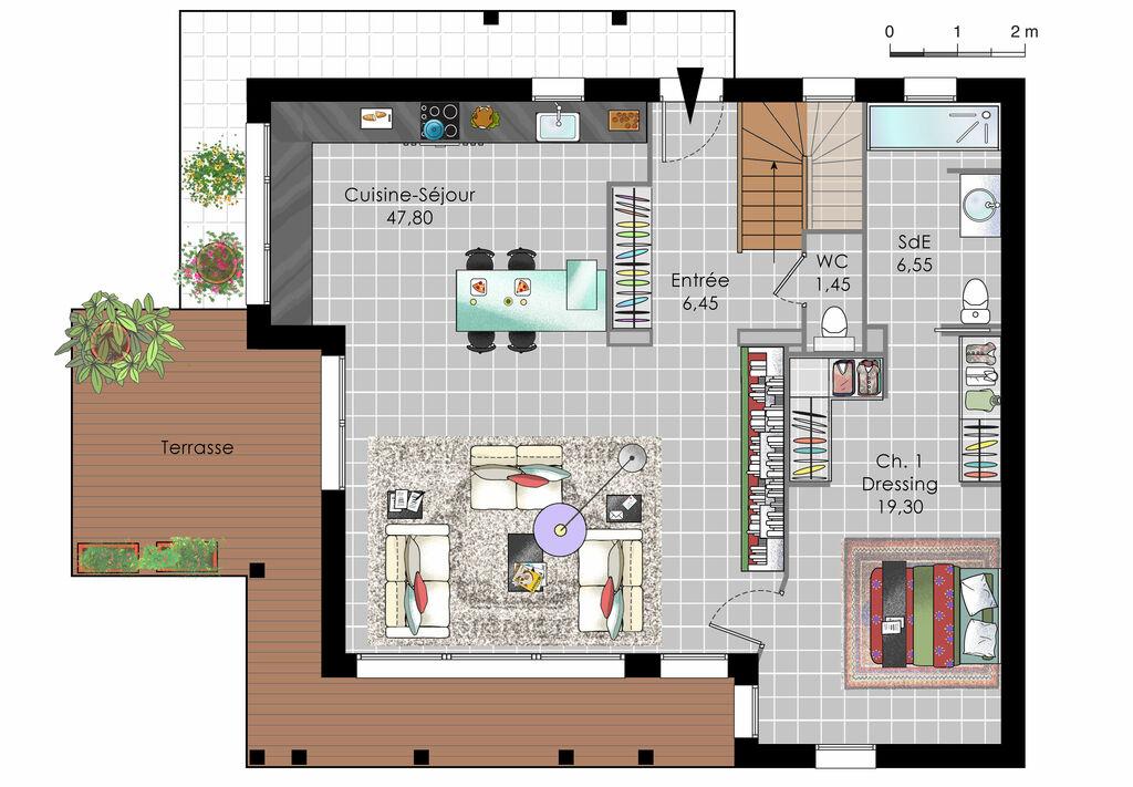 maison design ossature bois d tail du plan de maison design ossature bois faire construire. Black Bedroom Furniture Sets. Home Design Ideas