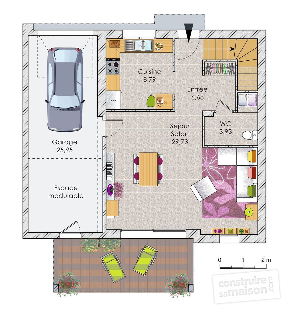 Maison design contemporaine d tail du plan de maison design contemporaine faire construire - Faire les plans de sa maison ...