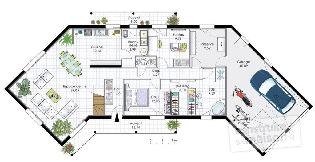 Plan Maison  Chambres With Plan Maison  Chambres Trendy Gallery