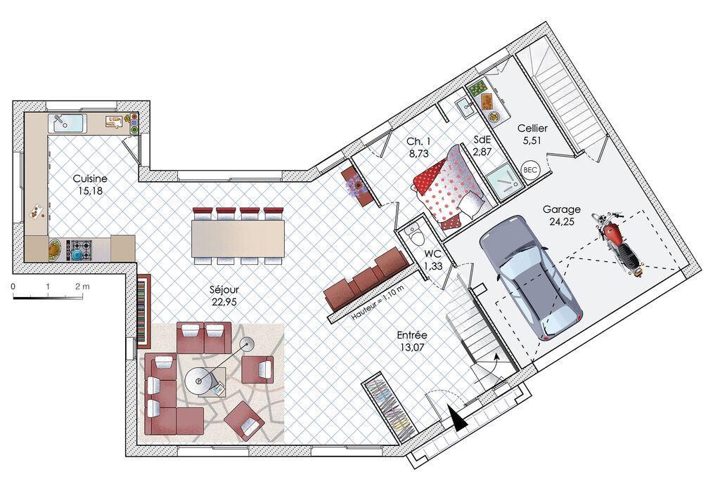 Telecharger Plan Maison 130 Plan 1 100e Avec 1