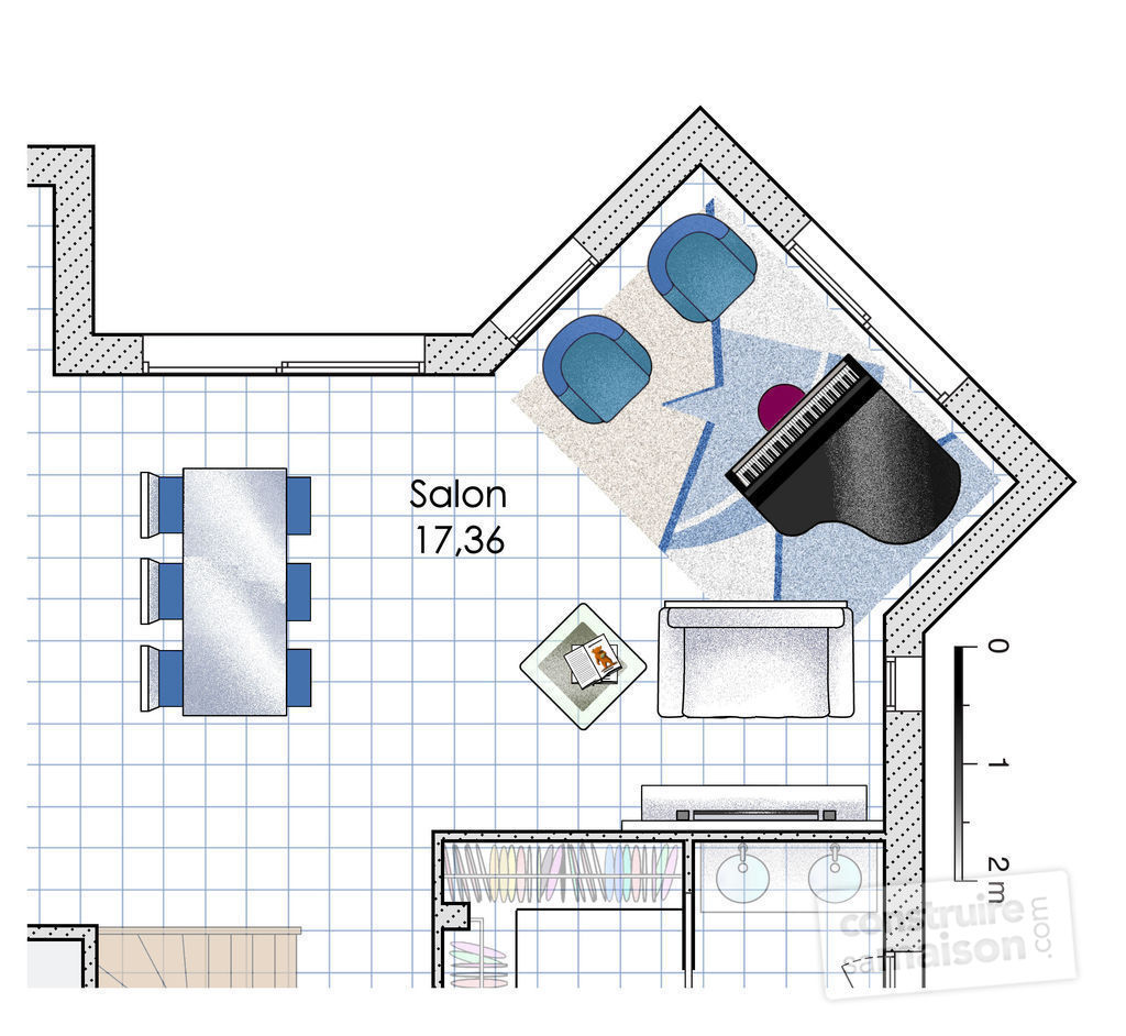 Plan Maison U Ouvert With Plan Maison U