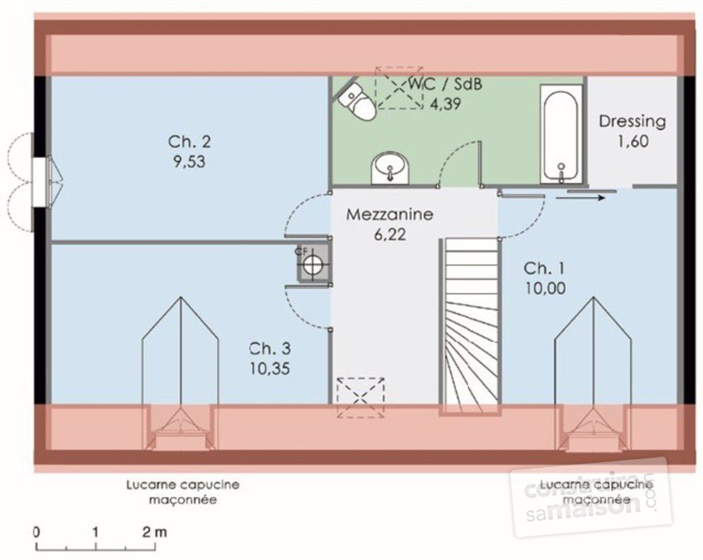 Plan de maison tage maison moderne for Plan maison contemporaine etage