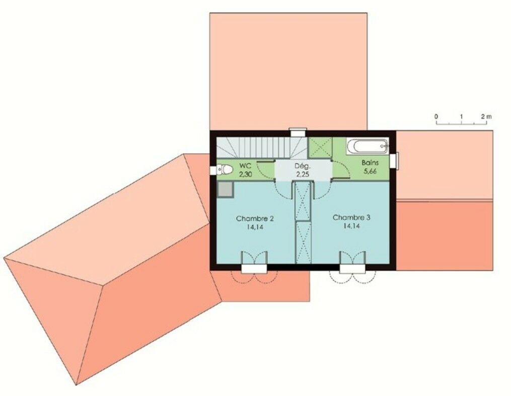 bastide traditionnelle d tail du plan de bastide. Black Bedroom Furniture Sets. Home Design Ideas