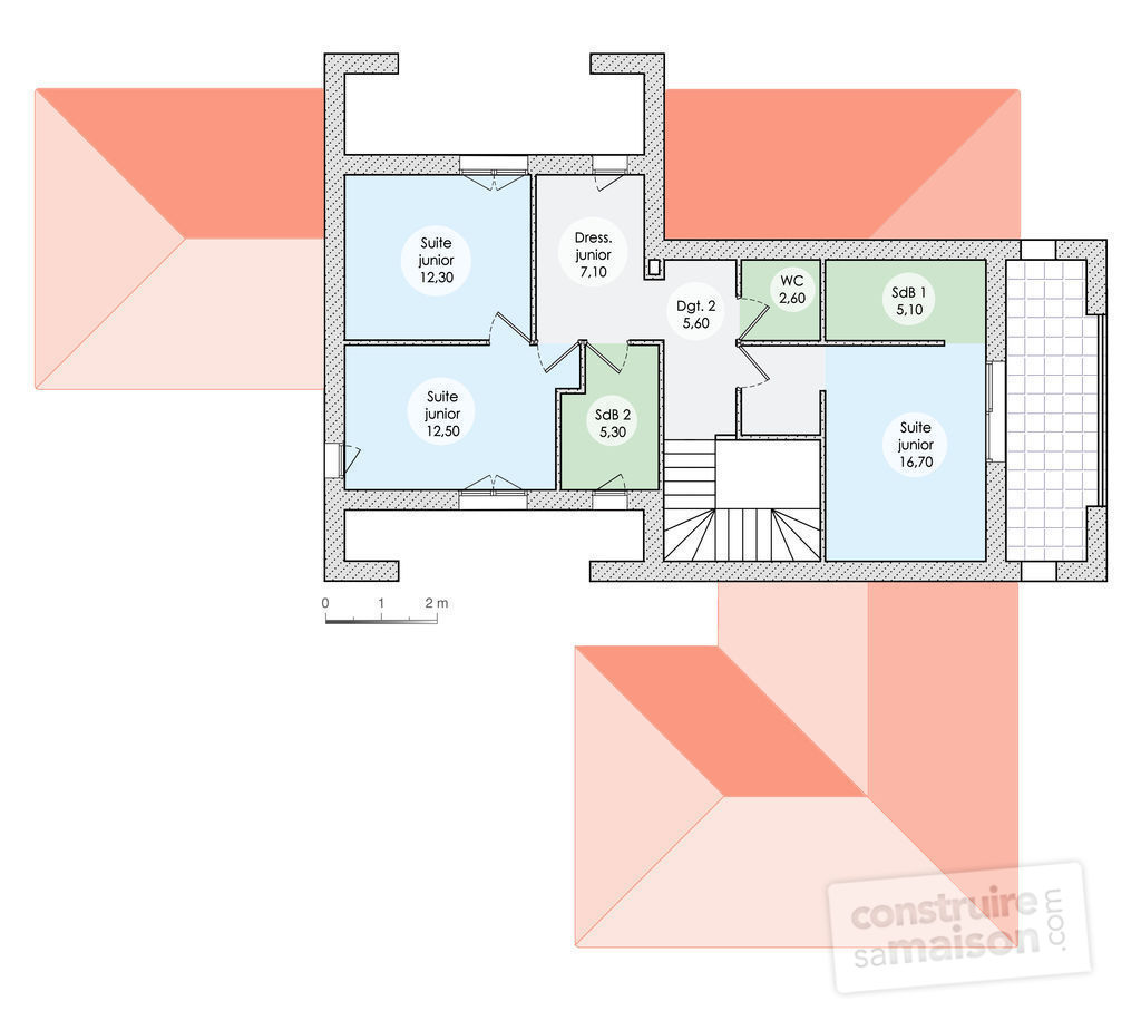 Plan de maison d architecte extension maison jean for Plan maison 300m2