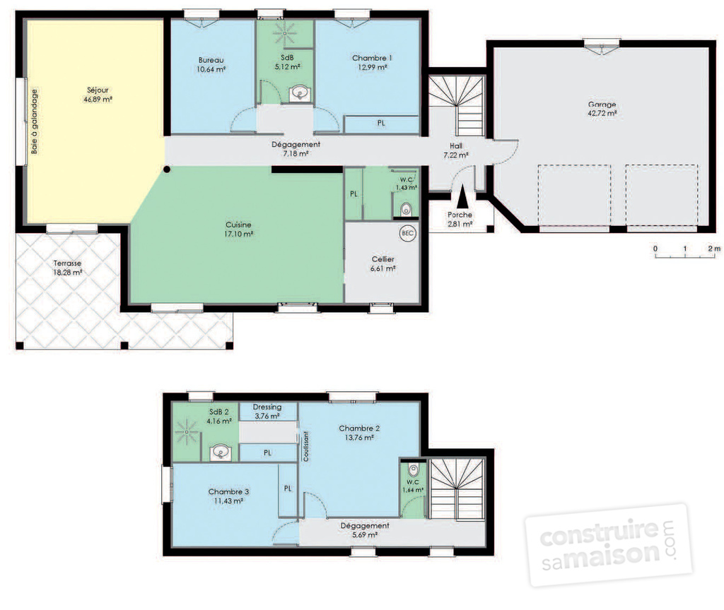Bastide contemporaine d tail du plan de bastide contemporaine faire const - Maison contemporaine plan ...