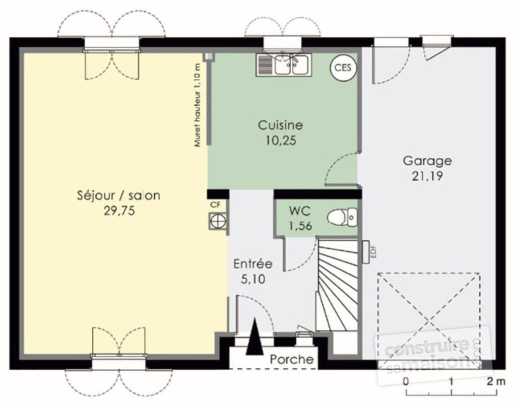 Plan de maison rdc for Plan maison suite parentale rdc