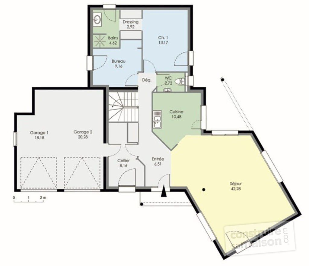Maison contemporaine d tail du plan de maison contemporaine faire constru - Maison contemporaine plan ...