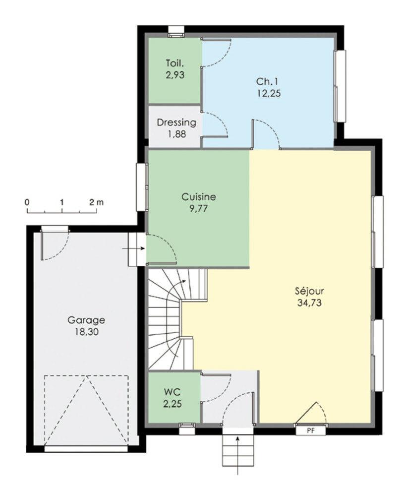 Plan maison avec etage garage ventana blog for Maison 100m2 etage