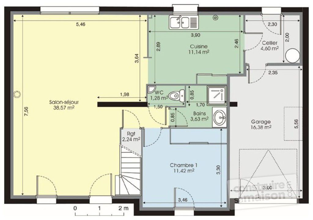 Maison contemporaine 120m2 maison moderne for Plans maisons contemporaine