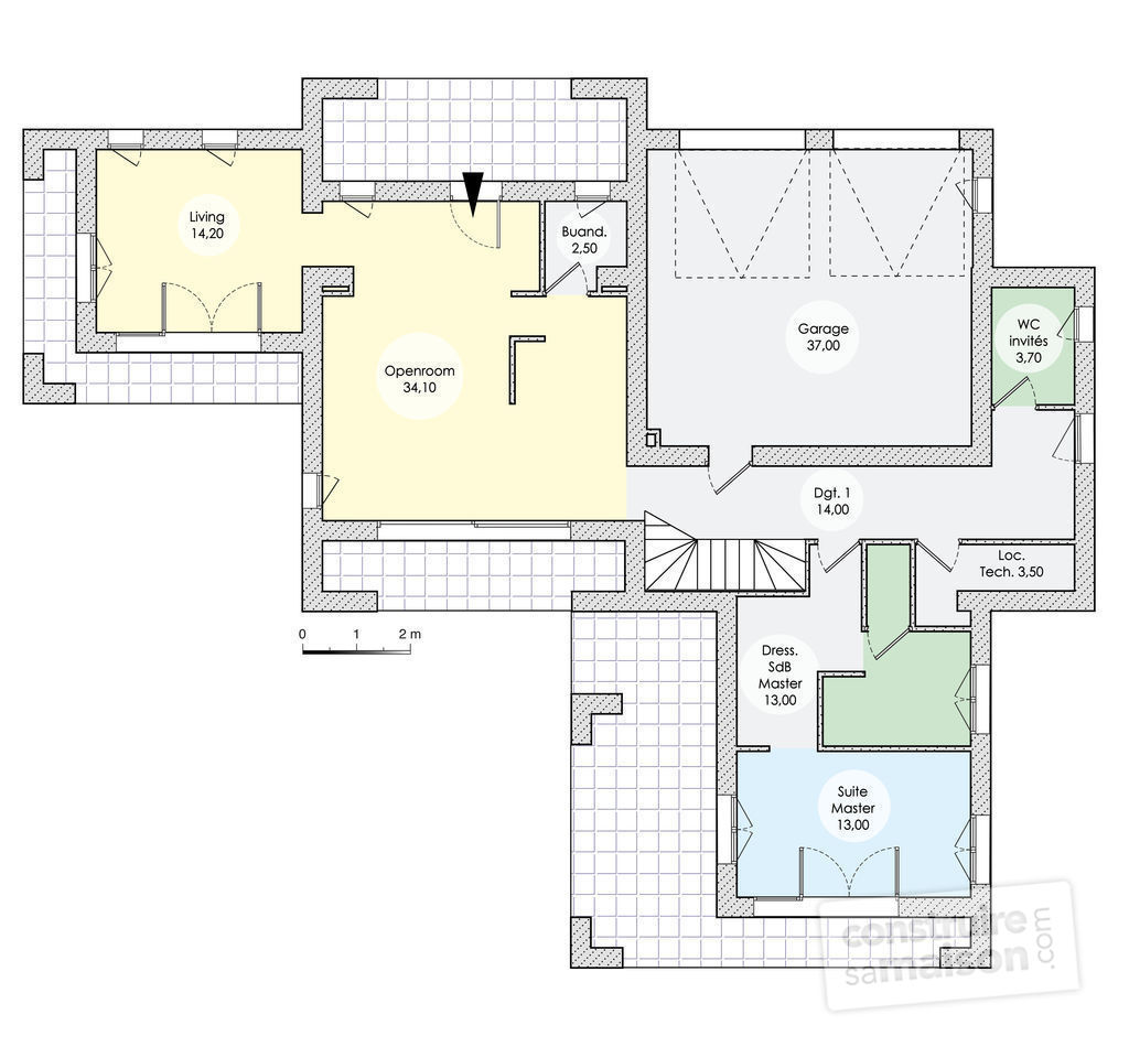 Floor Plan With Garage Villa D Architecte Personnalis 233 E D 233 Tail Du Plan De Villa