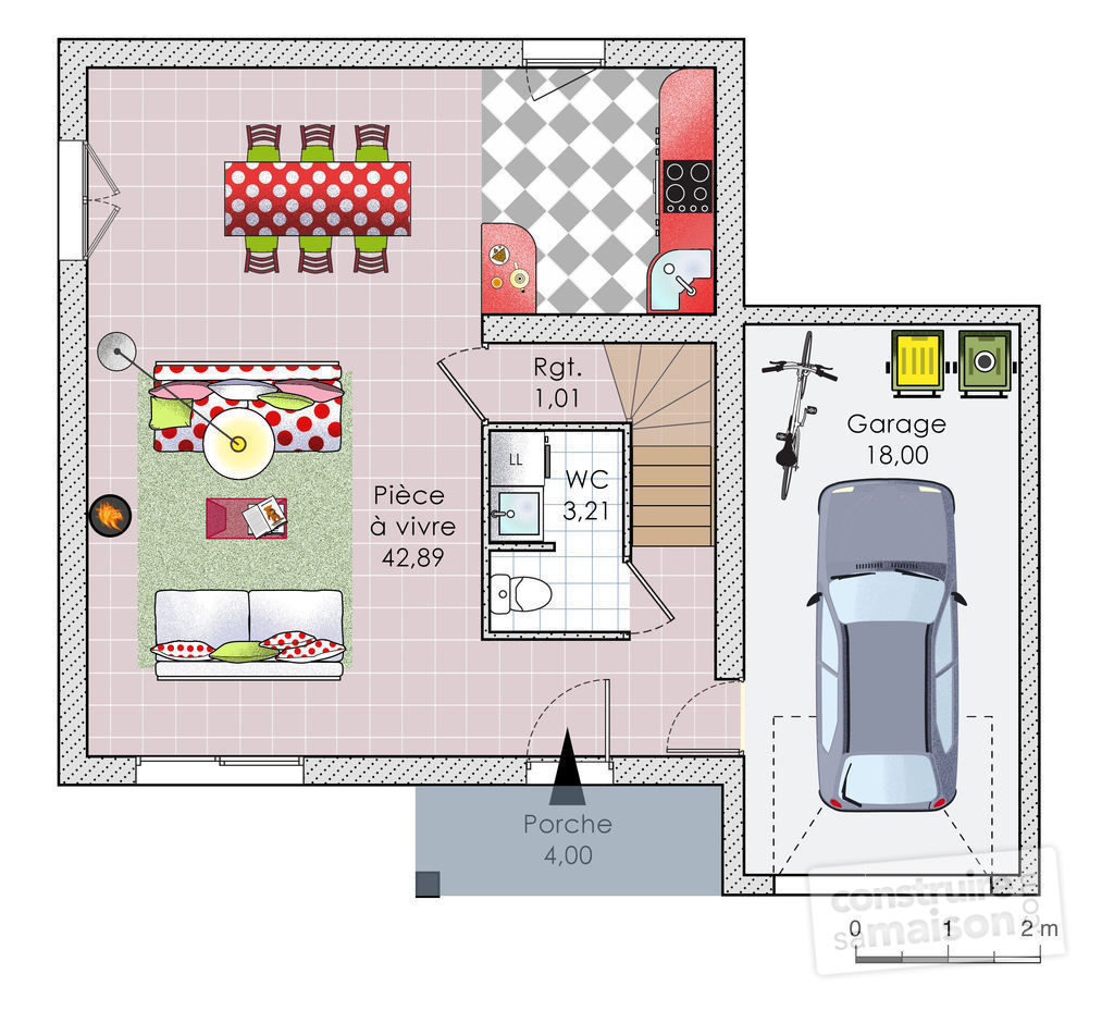Plan maison contemporaine bioclimatique for Plan maison bbc