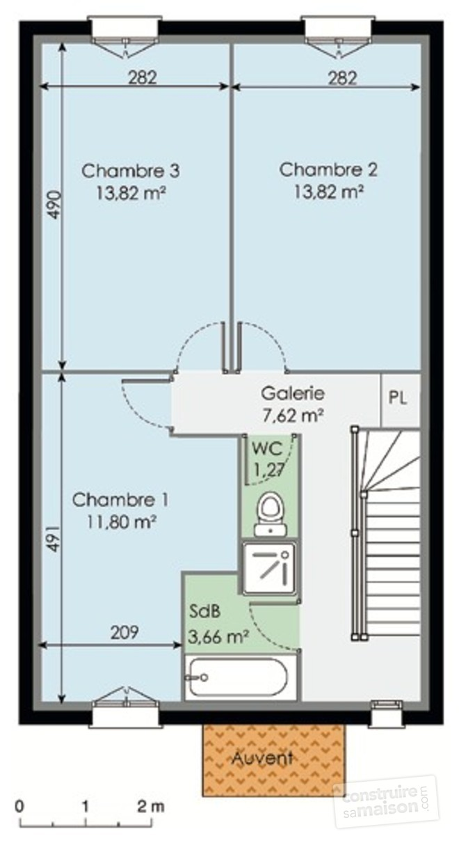 Plan etage maison ventana blog for Plan maison contemporaine etage