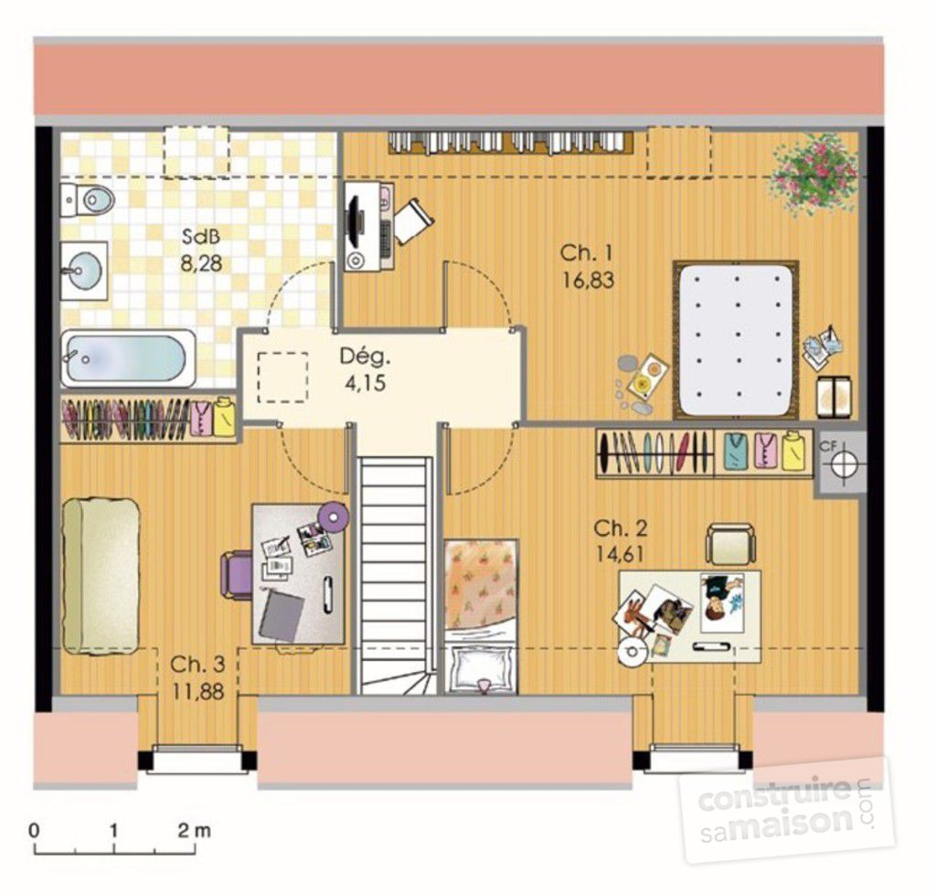 Maison bbc d tail du plan de maison bbc faire for Plan maison un etage