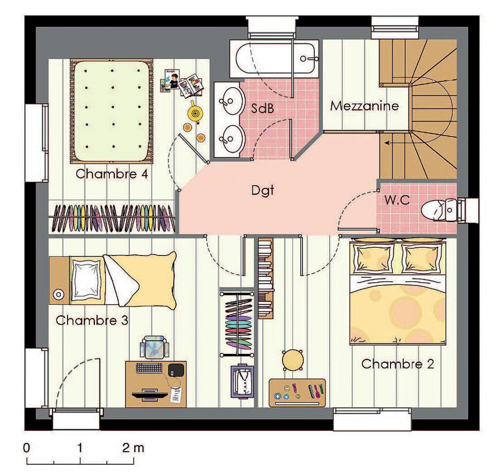 plan habill etage maison maison nergie positive - Maison A Energie Positive Plan
