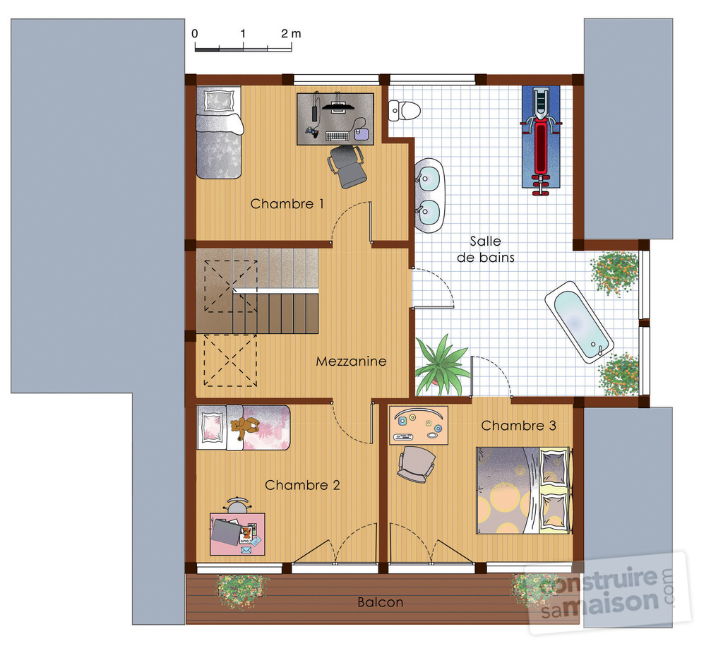 Plan de maison ecoenergetique for Plan de maison zone llc