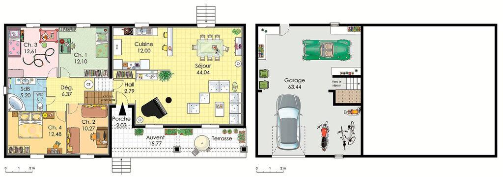 modele maison virginie becokit maisons ossature bois - idee plan ... - Idee Plan Maison En Longueur