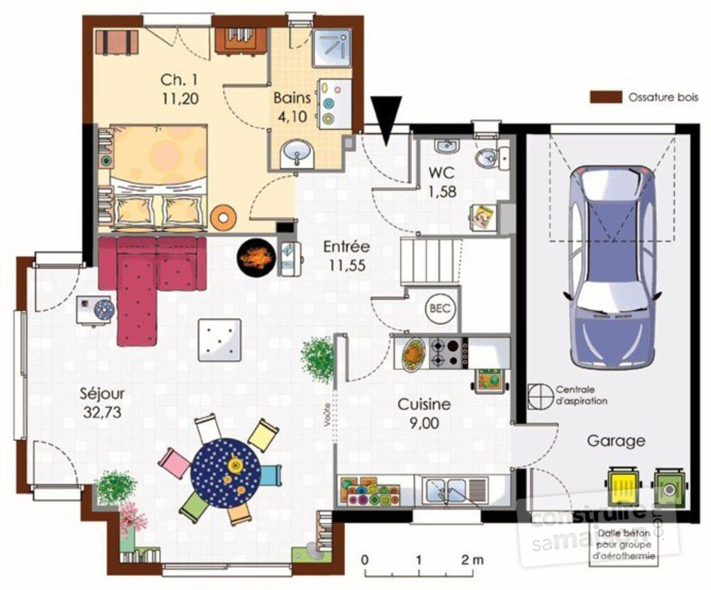 Plan maison avec suite parentale latest plan de maison for Plan maison suite parentale rdc