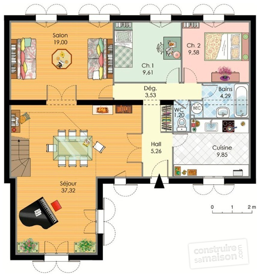 Maison familiale 1 d tail du plan de maison familiale 1 for Abrite des plans et des plans
