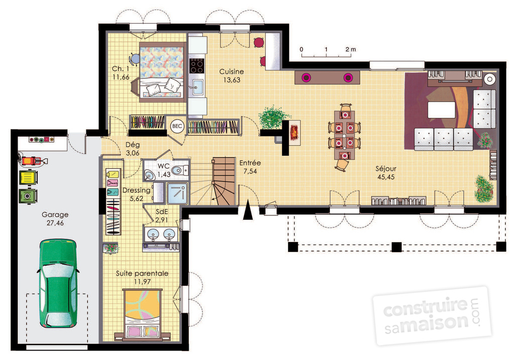 Plan maison bastide for Plan de maison moderne gratuit a telecharger