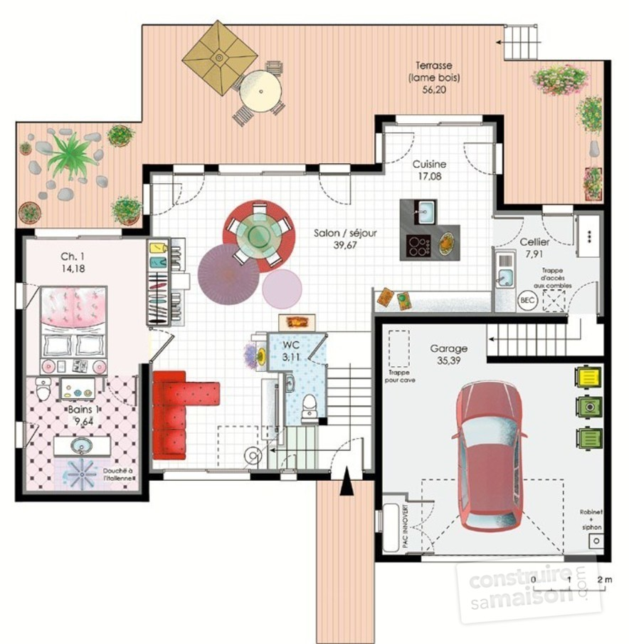 Best plan de maison type images for Plan de maison