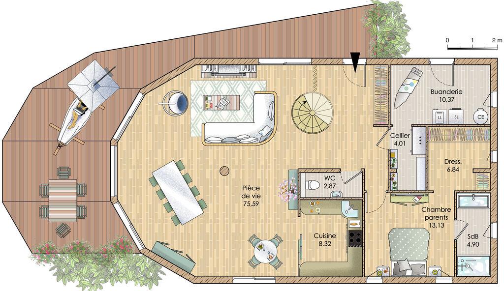 Plan De Maison Ecologique Gratuit Faire Construire Sa Maison 2
