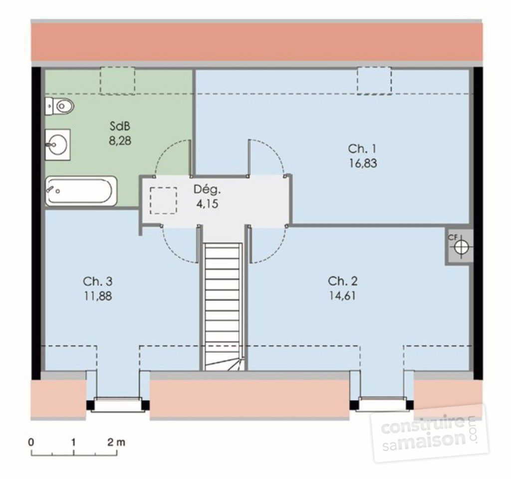 Maison bbc d tail du plan de maison bbc faire construire sa maison for Plan amenagement maison