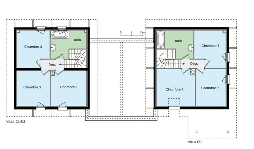 plan d une maison tage maison moderne. Black Bedroom Furniture Sets. Home Design Ideas