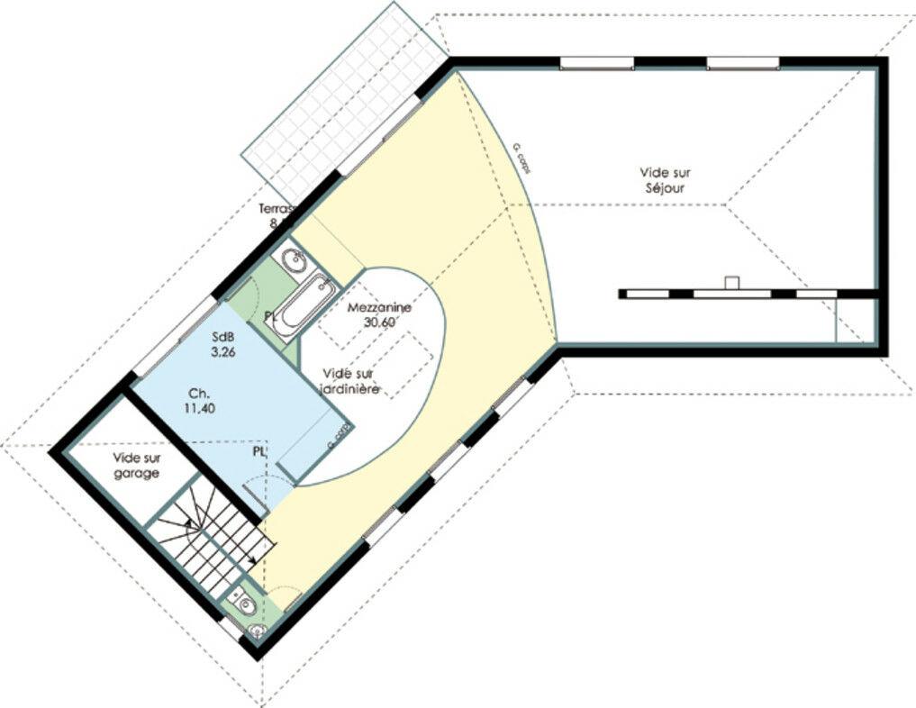 maison bbc en l d tail du plan de maison bbc en l. Black Bedroom Furniture Sets. Home Design Ideas
