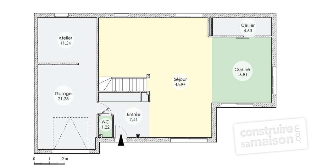 Maison bois contemporaine tage d tail du plan de maison bois contemporaine tage faire - Plan maison ecologique ...