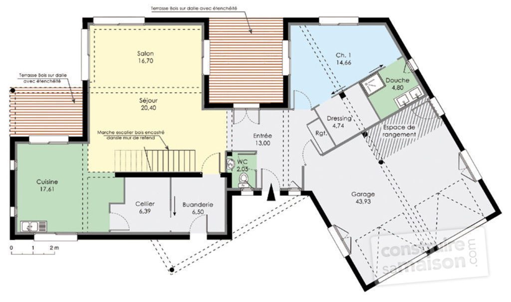 Plan maison moderne design for Plan maison moderne en u