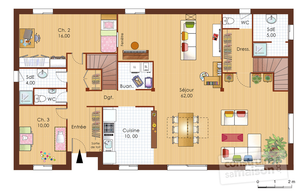 Maison bois 1 d tail du plan de maison bois 1 faire for Plans d une maison