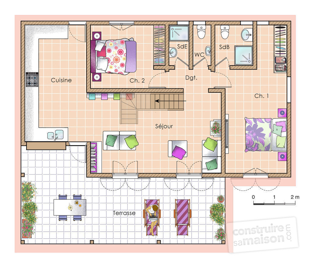 Plan d 39 une maison simple maison moderne for Maison moderne simple