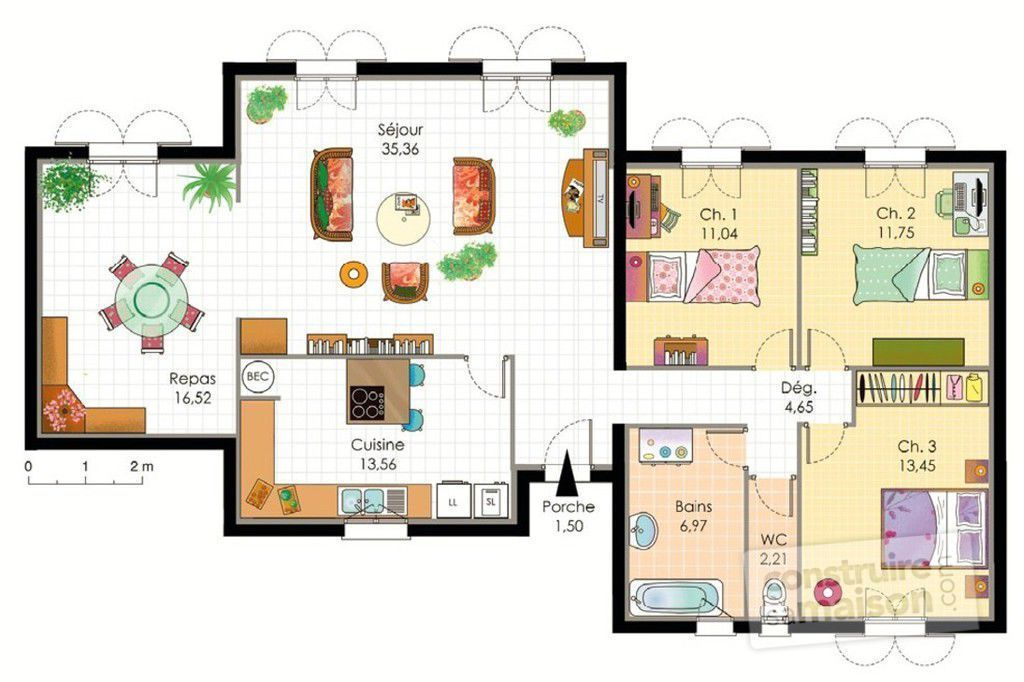 Plan moderne de villas for Plan des villas modernes