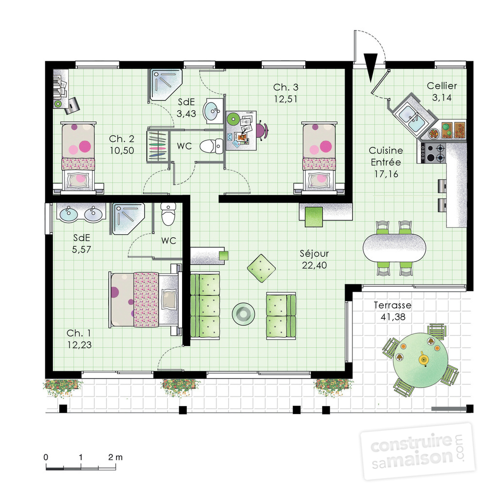 Grande villa d tail du plan de grande villa faire for Villa maison plans photos